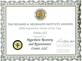 Award, Advanced Hyperbaric Recovery Inc
